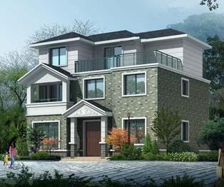 漂亮新农村三层带堂屋农村房屋别墅施工图纸11.5米x10.1米
