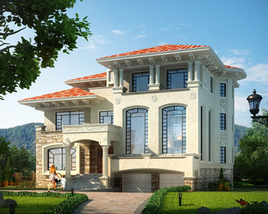 三层复式楼中楼双车库豪华别墅设计全套施工图纸16.2米×15.6米