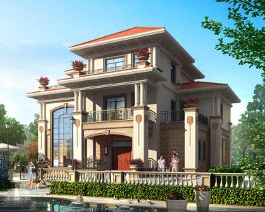 占地170平方米三层高端豪华复式楼中楼别墅全套建筑设计图纸15.3米x11.7米