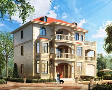 三层豪华带车库别墅全套建筑设计施工图纸15.6米x9.5米