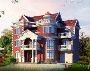 某度假村欧式豪华气派带车库三层复式楼中楼别墅全套设计图纸15米×13米