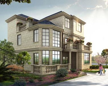 占地150平方米三层带露台豪华别墅设计全套建筑施工图纸11米×13.8米