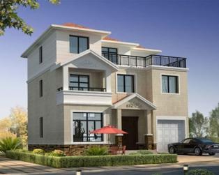 三层带车库大露台别墅设计全套建筑施工图纸11.5米×10.1米