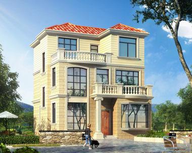 三层占地71.48平米现代别墅全套设计图纸9mx9.6m