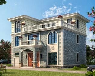 三层简洁大方带车库别墅建筑施工全套图纸12.5米x11.7米