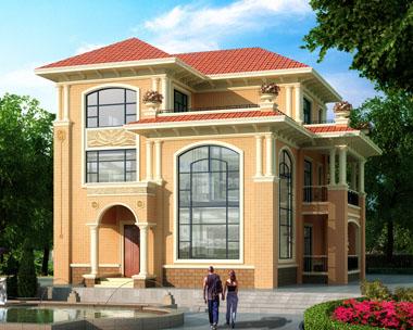 简洁三层现代农村复式楼中楼别墅设计图纸15.9mx17.9m