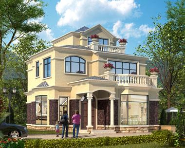 占地120三层简欧带露台小别墅全套施工图纸9.7mx11.7m
