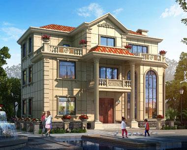 占地160三层豪华楼中楼复式楼中楼别墅建筑设计图纸14.7米x12米