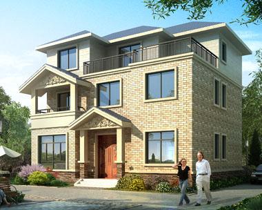 占地120三层经济实用型别墅全套施工图纸11.5米x10.1米