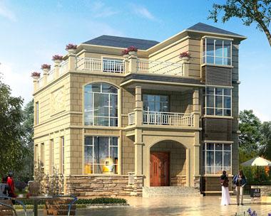 占地110三层现代简欧带地下层别墅设计施工图纸10.8米x10米