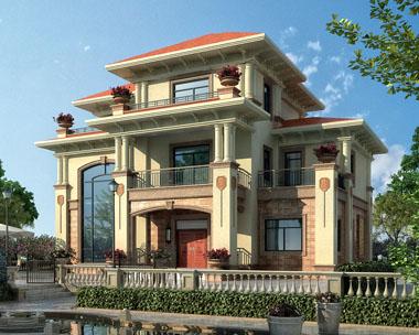 占地170三层高端豪华复式楼中楼别墅建筑设计施工图纸15.3米x10米