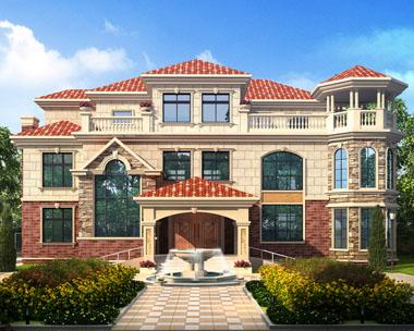 带地下车库豪华独栋三层私人别墅设计建筑图纸20.5米x17.6米
