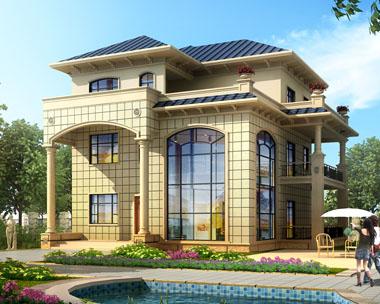 占地170简洁复式楼中楼三层新农村别墅施工图纸15mx15.3m