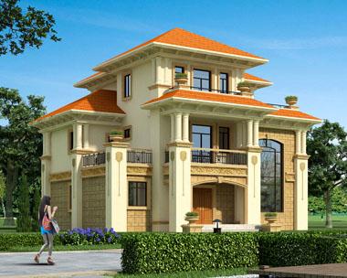 占地170三层高端豪华复式楼中楼别墅设计图建筑施工图纸14.7米x11.8米