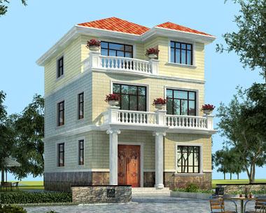 三层简洁农村别墅建房设计图纸8.2米x12米