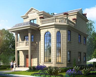 占地110新农村自建房三层小别墅设计图纸9.8米x11.5米