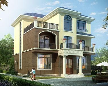 占地140自建实用简洁三层别墅设计施工图纸12米x12.9米