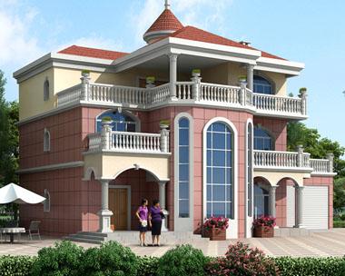 怀化别墅设计公司私人定制三层带双车库复式楼中楼别墅设计图纸19.7米x13.2米