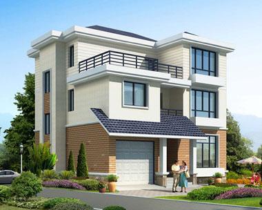 三层简约实用带车库农村别墅设计全套图纸11.4米x11.5米