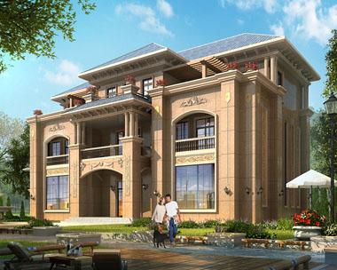 三层干挂石材高端大气豪华别墅建筑设计图纸26米x17.8米
