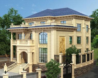 占地近300平米厦门三层豪华定制欧式别墅设计图纸15.8x16.1