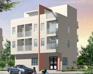 新农村自建现代三层半别墅全套施工设计图纸