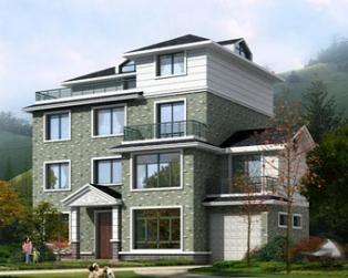 四层带车库露台农村复式楼中楼别墅建筑设计图纸11m×15m
