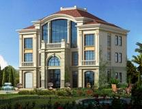 三层半欧式大气带车库复式别墅全套建筑施工图纸14m×12m