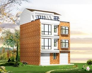 乡村小镇三层半商铺套间漂亮小别墅全套建筑施工图纸9m×11m