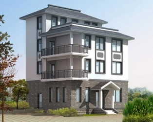 四层优雅现代简洁中式别墅建筑结构水电设计图纸9m×9m