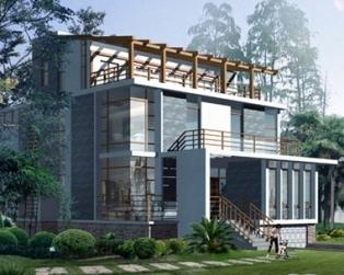 四层现代建筑私人会所型豪华别墅设计施工图纸14m×15m