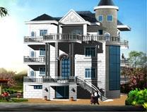 带架空层车库四层欧式豪华大型别墅全套施工图纸16mX20m
