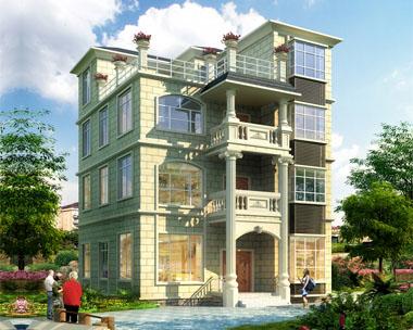 四层简洁实用小别墅设计施工图纸9.5mx10.5m