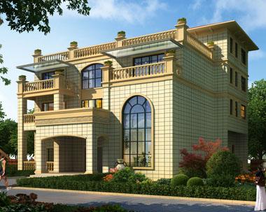 占地300平米大型四层复式楼中楼带屋顶花园别墅设计图纸18.6mx16.9m