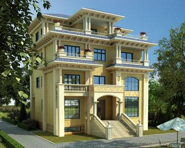 占地150平米复式楼中楼四层豪华私人别墅设计图纸13mx12.7m
