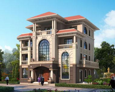 四层带佛堂复式楼中楼豪华别墅设计全套施工图纸16m×16.8m
