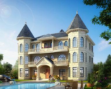 豪华大气三层欧式双拼别墅全套设计图纸20mx14.7m