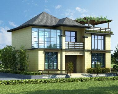 现代二层简洁亚洲风格别墅设计施工图纸11.5xm9.5m