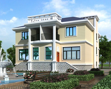 二层双拼带车库实用别墅设计施工图纸14.9mx16.5m