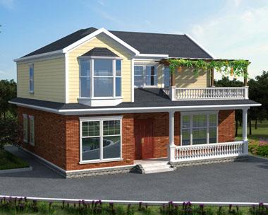 可供定制设计乡村两层别墅设计图二层优雅小别墅图纸13mx11.9m