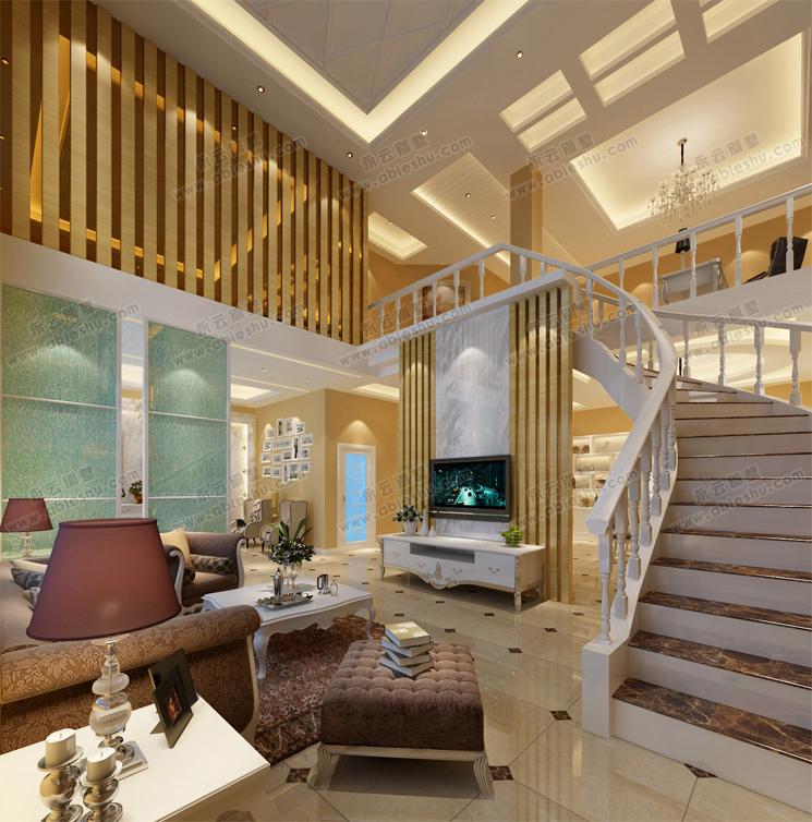 简洁清爽漂亮客厅装修设计效果图