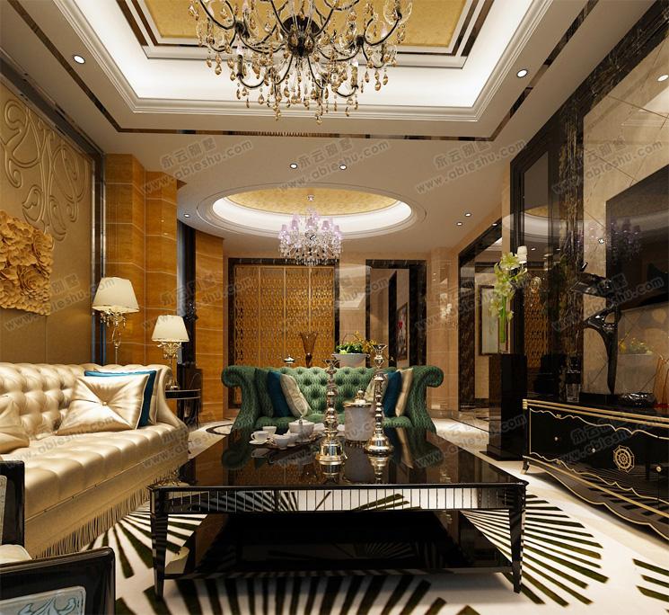 豪华现代别墅室内装修设计效果图