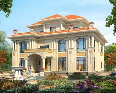 占地300平方米豪华大气三层复式楼中楼私人别墅设计图纸16.5米x14.1米