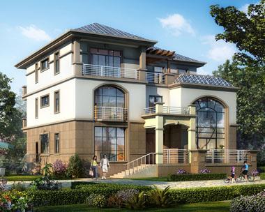 新款三层欧亚风格高档复式楼别墅全套设计图纸16.3mx15m