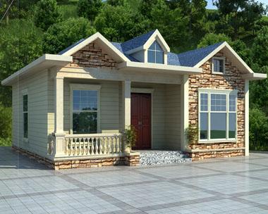 一层漂亮精致农村小别墅设计效果图