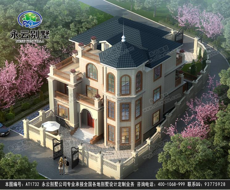 旅游区/景区特色三层复式楼别墅建筑效果图