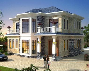 【带装修图纸】二层简欧私家别墅设计全套施工图纸13mx14m