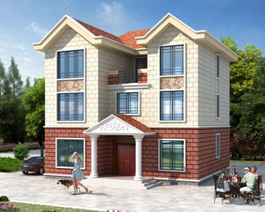 占地130平米农村自建三层简洁房屋设计施工图纸11.5米x11.9米