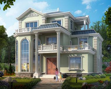 2018年新款AT1749株洲私人定制三层复式楼中楼漂亮别墅设计图纸13.2米x11.1米