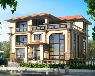 2018年新款三层复式楼中楼简欧带局部地下室别墅设计图纸14.3米X12.2米